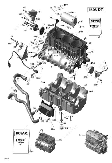 Sea Doo 2007 Gti Gti 4 Tec Se Engine Block Parts Catalog