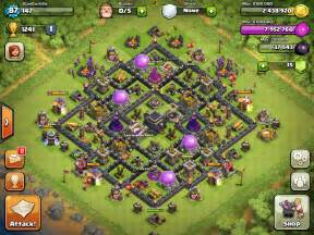 Clash of clans th9 base layout war