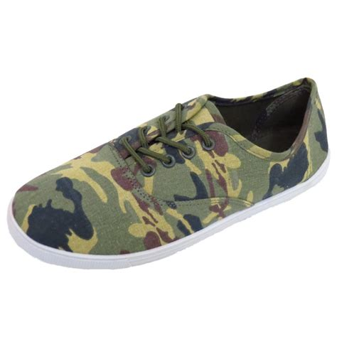 mens camo sandals mens camo print slip on pumps plimsolls flat trainer