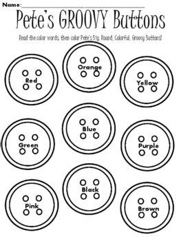 Pete S Groovy Buttons By Mrschristyb Teachers Pay Teachers Pete The Cat Shirt Template