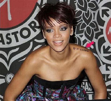 rihanna shoulder tattoo exploring rihanna s tattoos 20 pics izismile