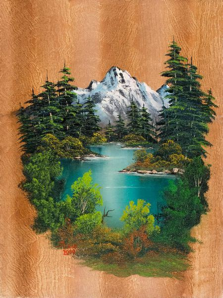 bob ross paintings for sale uk bob ross fishermans paradise painting at paintingforsale me