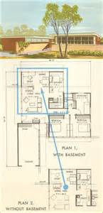 mid century home plans house plan no 5314 midcentury modern 1954 national