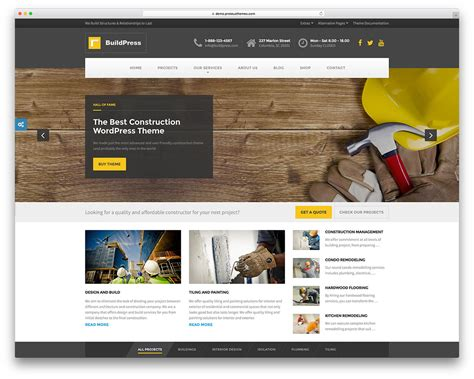 47 Best Construction Company Wordpress Themes 2019 Colorlib It Company Website Template