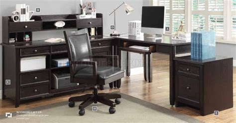 Home Office Desk Options Maclay 801191 Home Office Desk 3pc Set By Coaster W Options