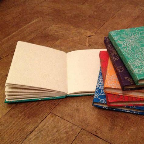 Handmade Paper Notebook - handmade lokta paper notebook flower print by aura que