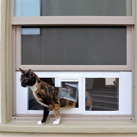Cat Doors For Windows Decor Ideal Fast Sash Window Pet Door Window Cat Door Petdoors Pet Town Pinterest Cat