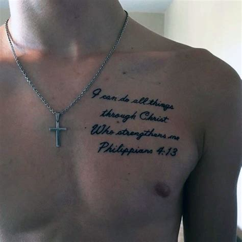 scripture tattoos on chest 40 philippians 4 13 designs for bible verse