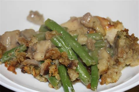 simply   love chicken  green bean casserole