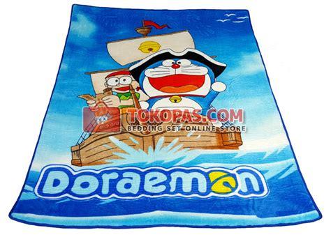Selimut Doraemon Sailor karpet selimut bulu halus lembut motif kartun bunga