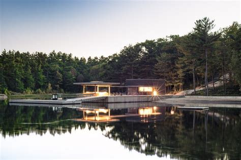 modern boat house modern boathouse in parry sound district e architect