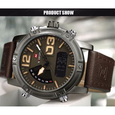 Navi Jam Tangan Analog Digital Pria Cowok Murah Elegan navi jam tangan analog digital pria 9095 black