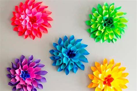 imagenes flores originales originales flores de papel idea para realizar coloridas