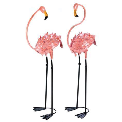 outdoor wayfair flamingo garden flamingo yard art
