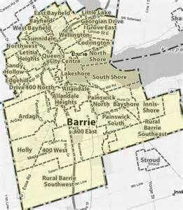 map of barrie ontario canada treb map