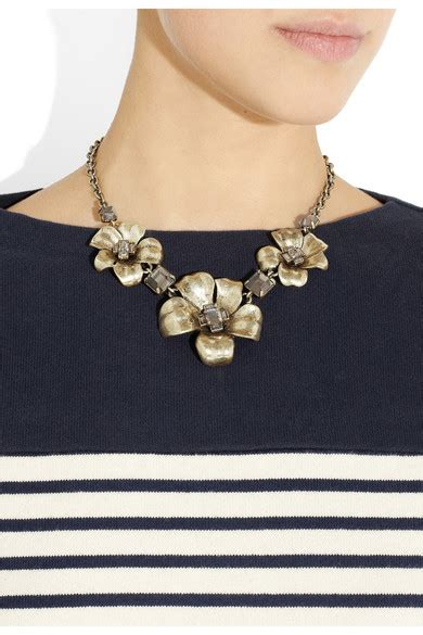 Marc Jacob Flower Necklace 2 marc by marc glass and resin embellished flower necklace net a porter