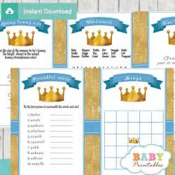 Creative Boy Baby Shower Themes - blue and gold royal prince baby shower games d270
