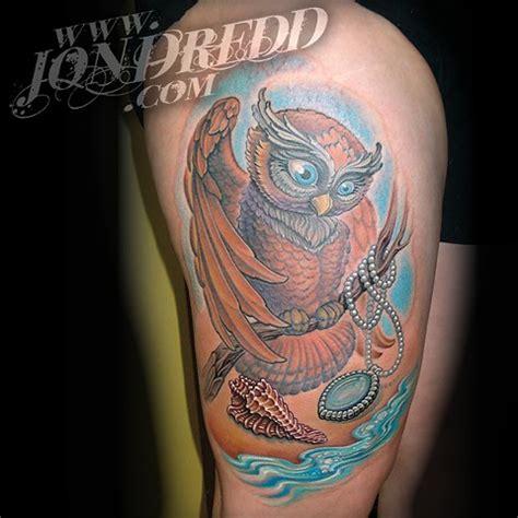 owl jewel tattoo jonathan kellogg tattoo artist quot jon dredd quot