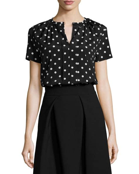 Dot Sleeve Blouse polka dot blouse sleeve blouse with