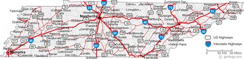 map of tennessee cities tennessee road map my