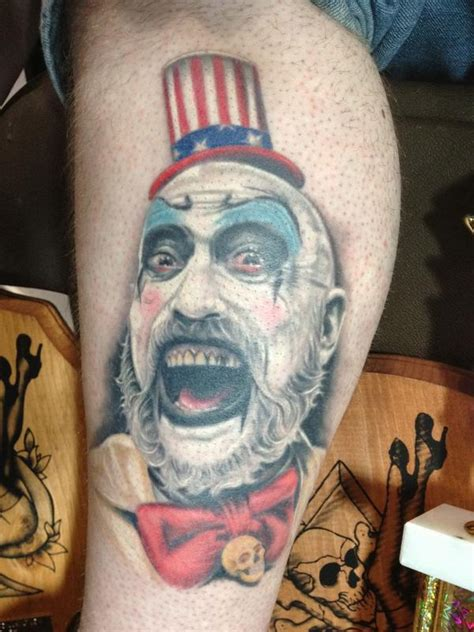 captain spaulding tattoo captain spaulding by ben rettke tattoonow
