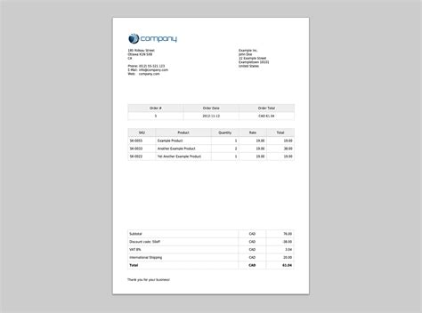 create customized shopify invoices shopstorm
