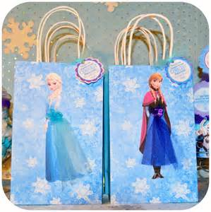 Frozen Favor Bags by Disney Frozen Birthday Gift Bags By Kraftsbykaleigh