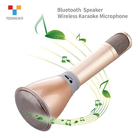 Smartphone Mini Mobile Karaoke Microphone For Iphone Android And Pct tosing k068 wireless karaoke microphones bluetooth speaker portable ktv player mini home ktv