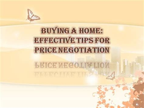 Buying A Home Effective Tips For Price Negotiation Colorado Rea Authorstream
