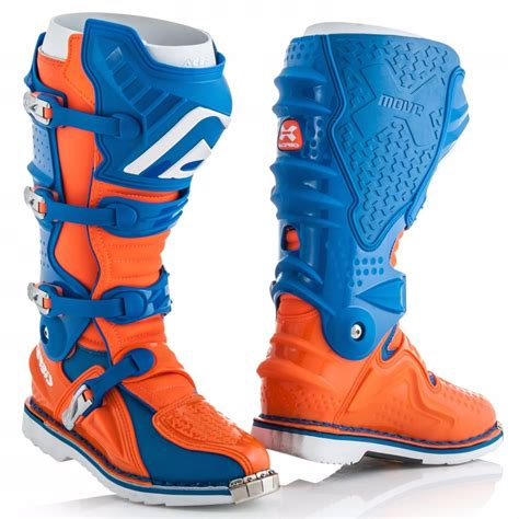 Sepatu Cross Acerbis X Move bottes cross acerbis x move 2 0 bleu orange fluo 2018 enduro motoblouz