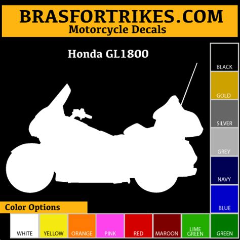 Goldwing Aufkleber by Honda Gl1800 Decal Bras For Trikes