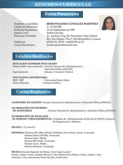 Modelo De Curriculum Vitae Ya Hecho Ppt Resumen Curricular Powerpoint Presentation Id 2996267