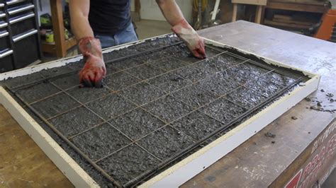 Concrete Countertop Reinforcement by How To Make A Concrete Table