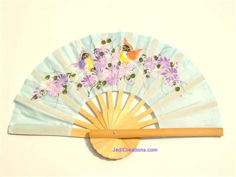Handmade Fans - wholesale held fans in artificial silk manufacturer