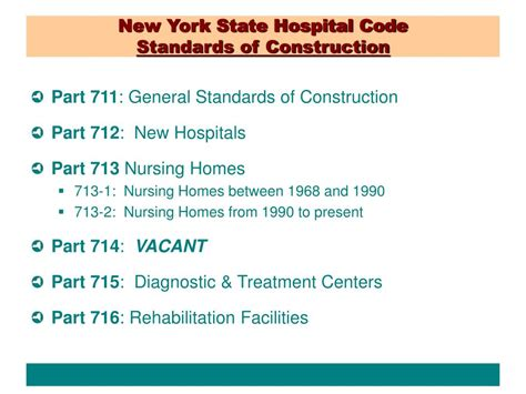 guidelines design and construction of healthcare facilities ppt health care facilities construction standards update