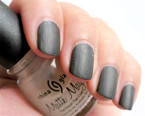 china glaze matte magic when the sky is grey nail swatch