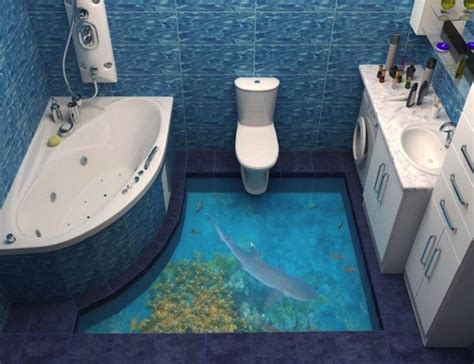 3d bathroom flooring 13 3d bathroom floor designs that will mess with your mind