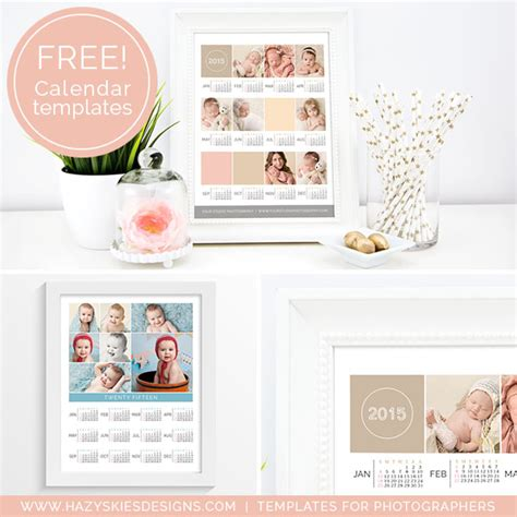 Free Templates For Photographers free 2015 photoshop calendar template for photographers www hazyskiesdesigns