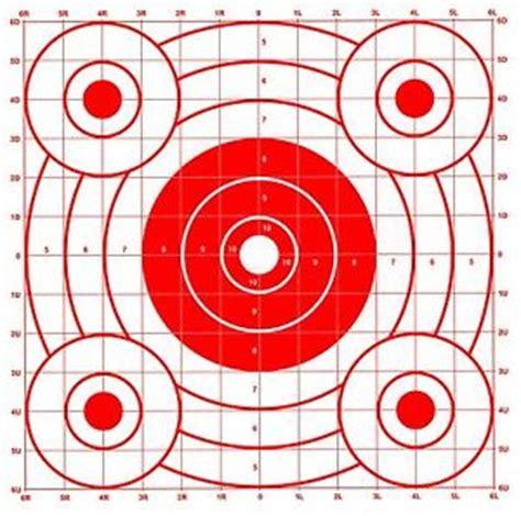 printable rifle sighting targets paper shooting targets ebay