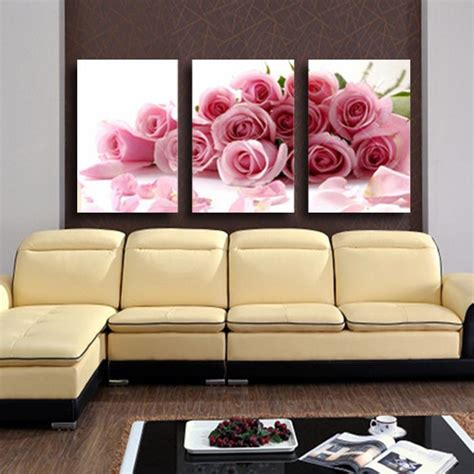 3 panel modern printed flower painting canvas cuadros flowers picture wall home decor