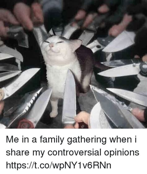 Controversial Memes - me in a family gathering when i share my controversial