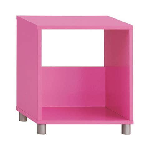 Single Cube Shelf by Cubo Single Tier Cube Footed Shelf Pink Wedding Gift