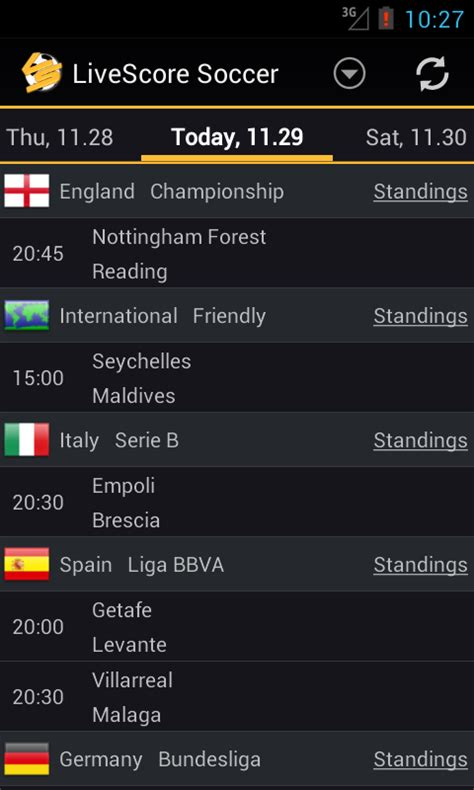 livescore android livescore football soccer android apps on play