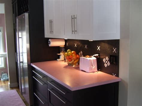 Pink Countertops Kitchen by News Caragreen