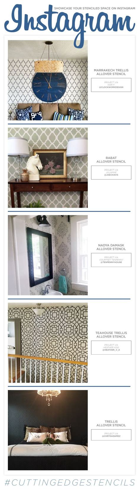 edge design instagram cutting edge stencils shares diy stenciled room ideas