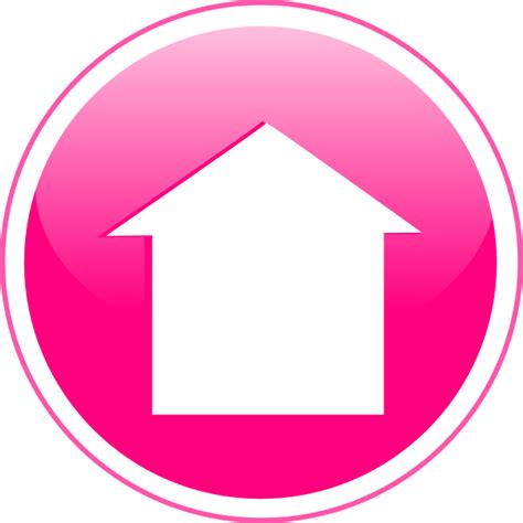 Home Button Pink Csmpc34pk Glossy Home Icon Button Clip At Clker Vector