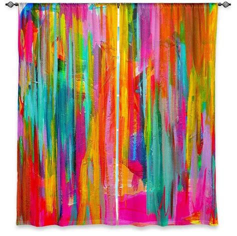Neon Curtains Designs Window Curtains Unlined Jackie Phillips Neon Abstract Traditional Curtains By