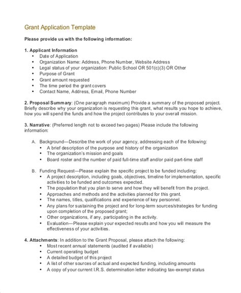grant proposal letter printable sle business proposal