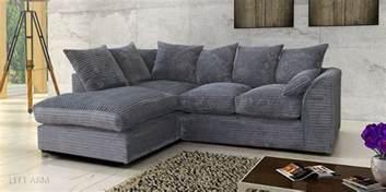 Chenille Living Room Furniture - porto jumbo cord corner sofa settee full chenille cord