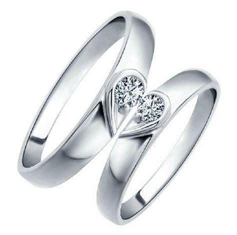 2pcs 925 silvers promise rings plate with the purple
